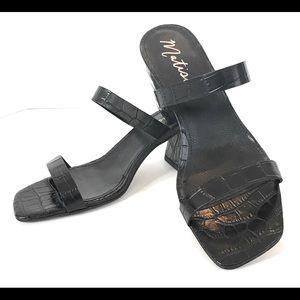 Matisse Madrid slip on sandal, black, Sz 10M, New
